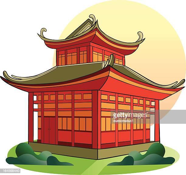 chinese pagoda - pagoda stock illustrations, clip art, cartoons, & icons