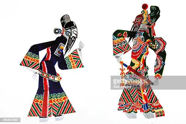 Chinese Shadow Puppet,Lu su and Guan Yu