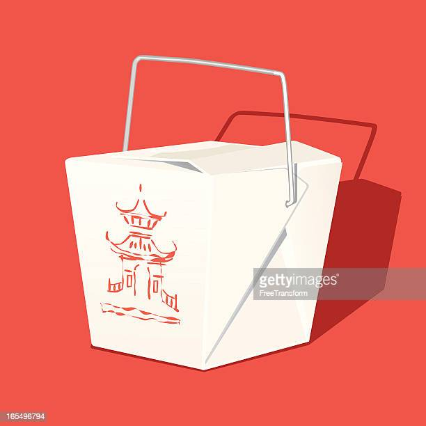 chinese takeout box - chinese takeout stock illustrations