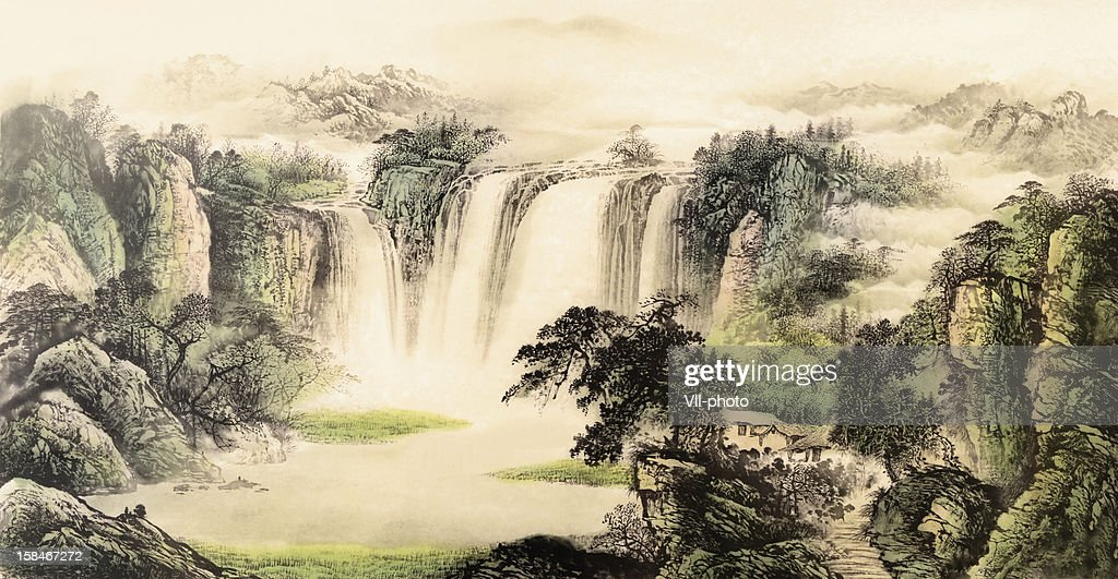 Chinese traditional painting : stock illustration