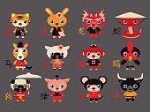 Chinese Zodiac Animal Characters