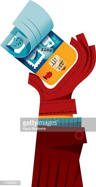 ilustrações de stock, clip art, desenhos animados e ícones de a chip reader on a credit card - buchinho