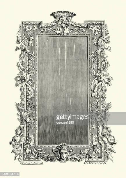 ilustraciones, imágenes clip art, dibujos animados e iconos de stock de marco chippendale del siglo xviii - archivo