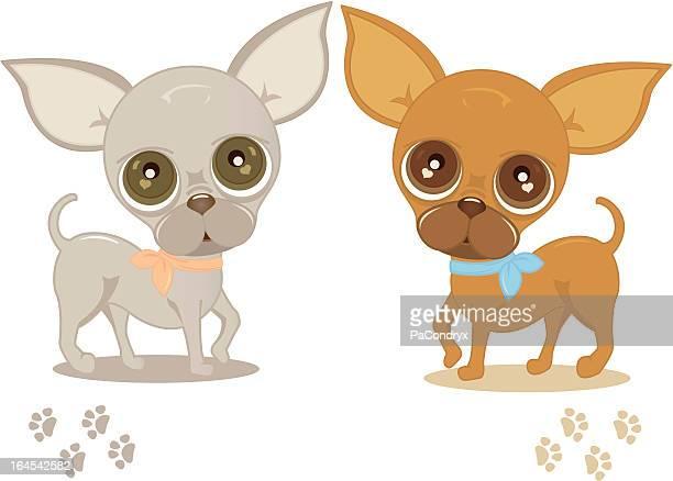 60点のチワワ犬のイラスト素材クリップアート素材マンガ素材