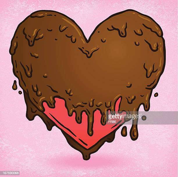 chocolate covered heart - slimy stock illustrations, clip art, cartoons, & icons