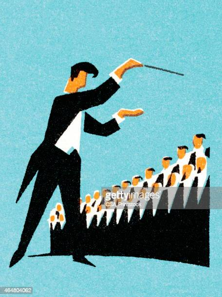 choir conductor - director stock illustrations