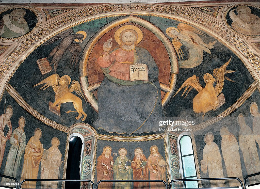 Christ In The Mandorla With The Symbols Of The Evangelists By