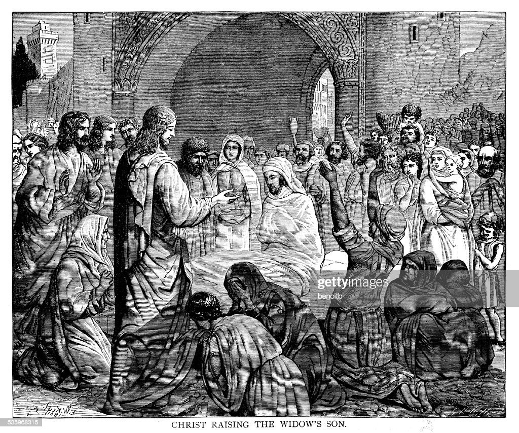Christ Raising The Widow's Son : Stock Illustration