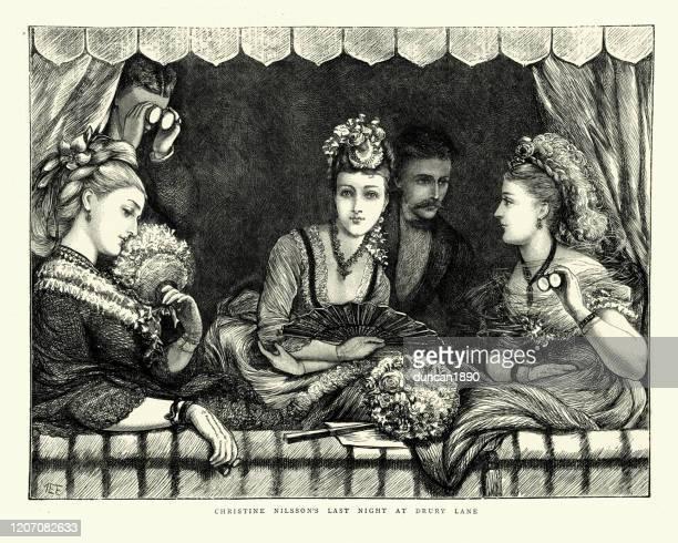 クリスティーナ・ニルソンの最後の夜、ドラリー・レーン(1872年) - セントラル・ロンドン点のイラスト素材/クリップアート素材/マンガ素材/アイコン素材