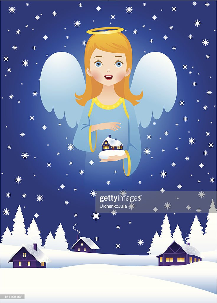 Christmas angel in the sky