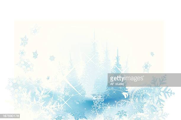 christmas background with trees - frost stock illustrations, clip art, cartoons, & icons