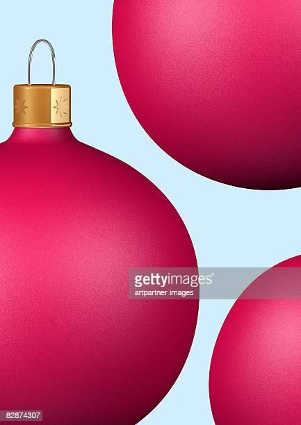 3 christmas ball ornaments for christmas trees - shiny stock illustrations