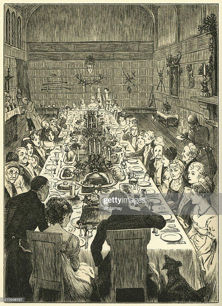 Banquete de Natal : Ilustração