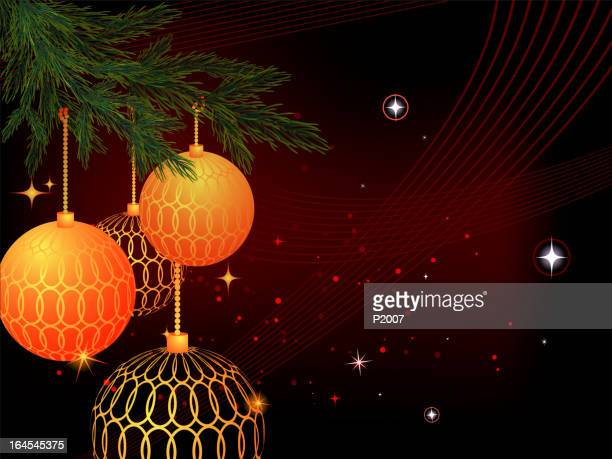 weihnachtsdekoration - tannenzweig stock-grafiken, -clipart, -cartoons und -symbole
