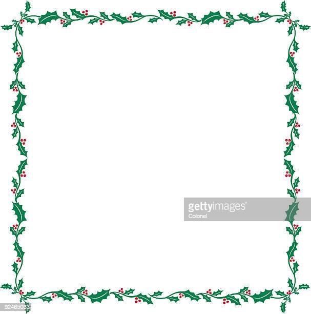 christmas elements 08 (vector & jpg) - holly stock illustrations
