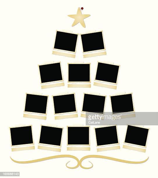 christmas family tree - family tree chart stock illustrations, clip art, cartoons, & icons