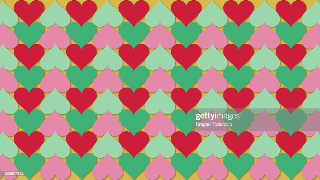 Christmas hearts : stock illustration
