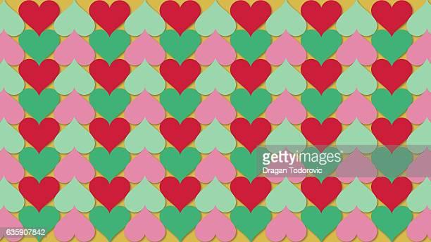 christmas hearts - rain stock illustrations