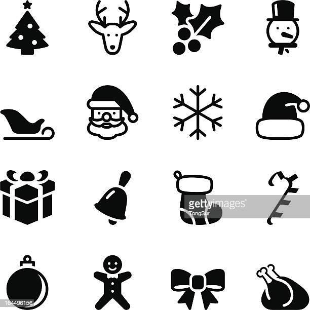 christmas icons - mistletoe stock illustrations, clip art, cartoons, & icons