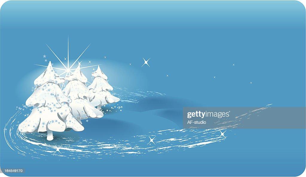 Weihnachten Landschaft Vektorgrafik   Getty Images