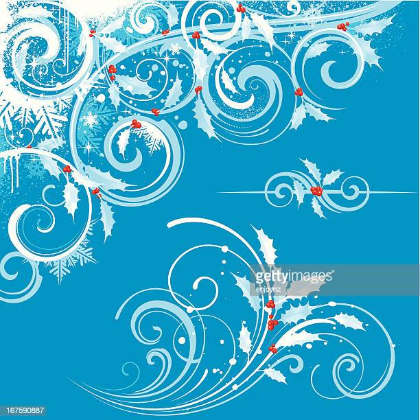 christmas motifs - classical style stock illustrations, clip art, cartoons, & icons