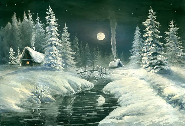 Christmas Night In The Country Wall Art