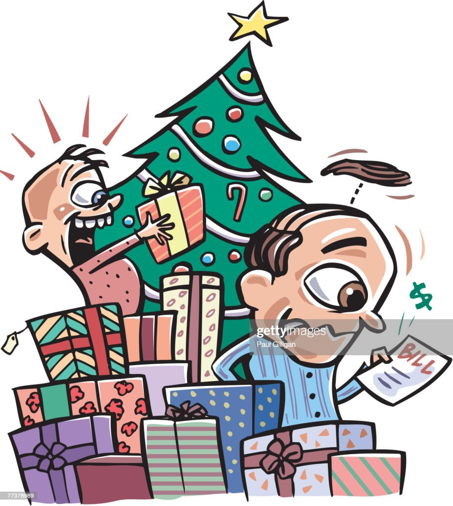 Christmas surprises and expenses : Illustration