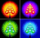 Christmas tree color vector