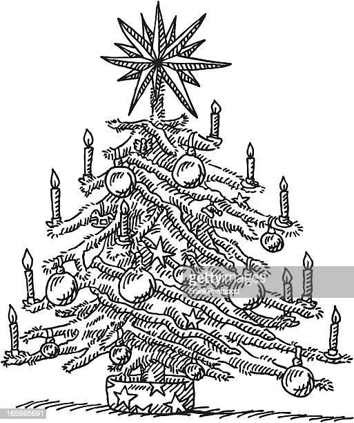 Weihnachtsbaum-Zeichnung