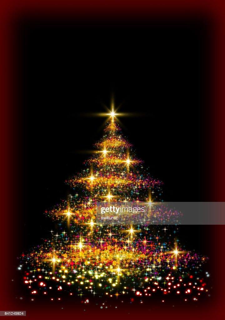 Tannenarten Weihnachtsbaum.Weihnachtsbaum Beleuchtung Hintergrund Stock Illustration Getty Images