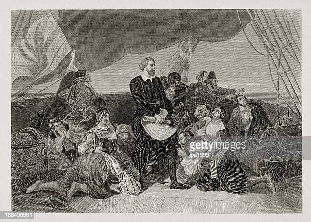 christopher columbus arriving to new world - 19th century stock illustrations