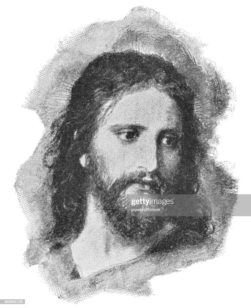 Christ's Image by Heinrich Hofmann - 19th Century : Stock Illustration