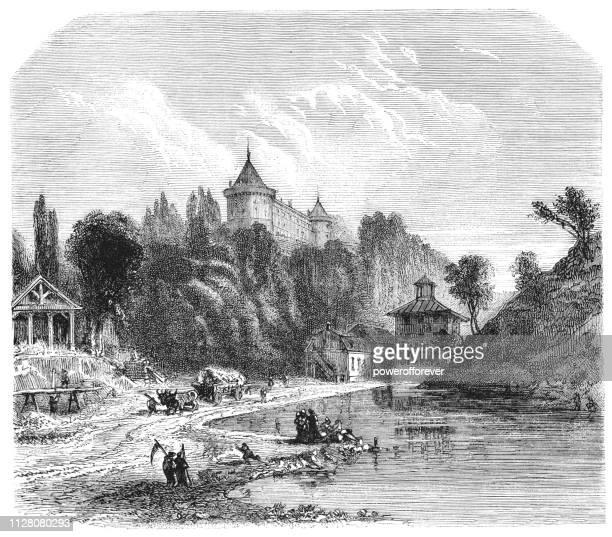 Château de Chastellux in Chastellux-sur-Cure, Yonne, France - 19th Century