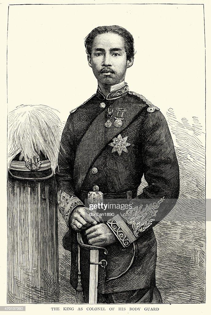 Chulalongkorn or Rama V, King of Siam : stock illustration