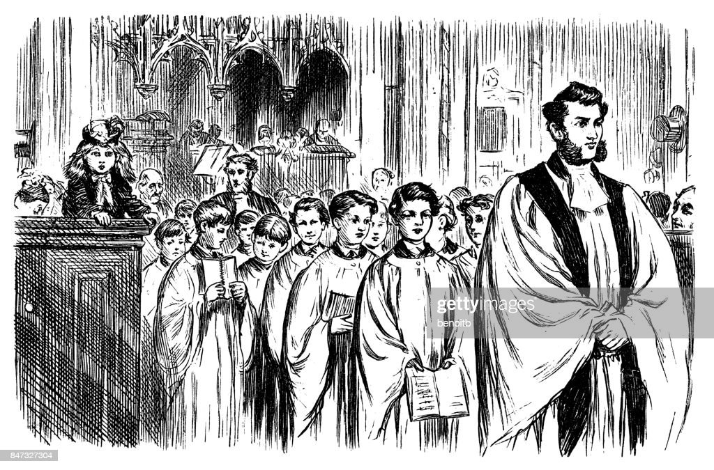 Church Choir : Stock Illustration
