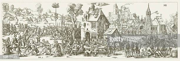 Church consecration festival in a village in 1530, published 1881