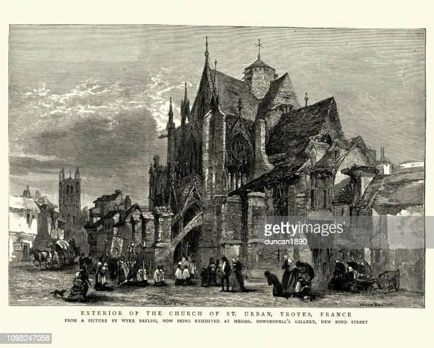 illustrations, cliparts, dessins animés et icônes de église de st urbain, troyes, france, xixe siècle - troyes champagne ardenne