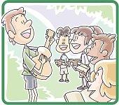 Church summer camp praise