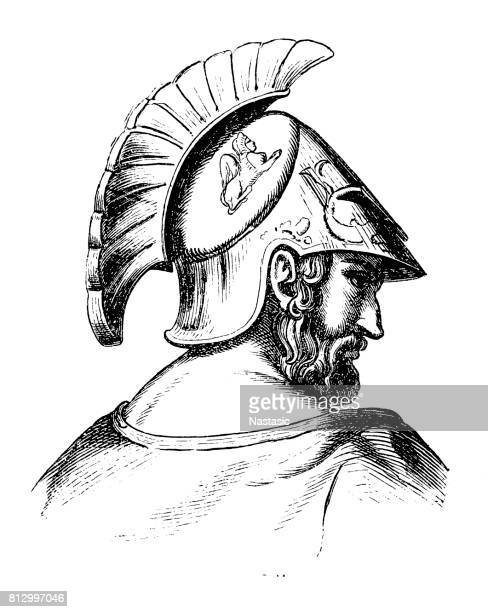cimon (c.510 bc-449 bc), athenian politician - athens georgia stock illustrations, clip art, cartoons, & icons
