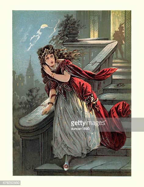 cinderella or the little glass slipper - princess stock illustrations, clip art, cartoons, & icons