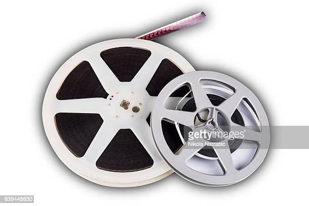 ilustraciones, imágenes clip art, dibujos animados e iconos de stock de cinema film tape on disc - rollo de cine
