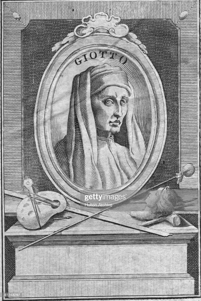 Circa 1320, Italian painter and architect Giotto di Bondone (c.1266 - 1337), born near Florence.
