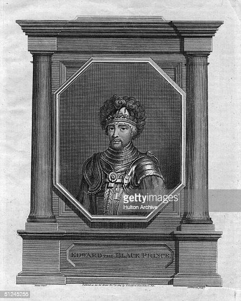 Circa 1376 Edward the Black Prince the eldest son of King Edward III He became Prince of Wales in 1343