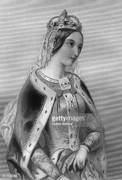 Circa 1420, Catherine of Valois, , queen of England, wife of King Henry V, whom she married in 1420 at Troyes.