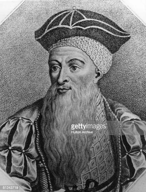 Circa 1510, Portrait of the Portuguese conqueror in India, Alfonso d'Alberque .