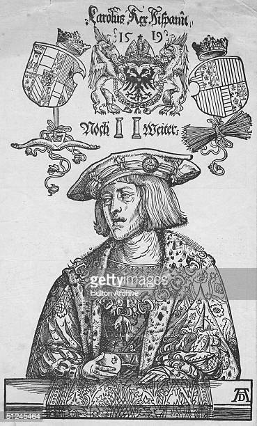 Circa 1519, Karl V , Holy Roman Emperor , King of Spain as Charles I , and founder of the Habsburg dynasty. He was the most powerful monarch in...
