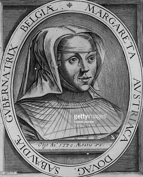 Circa 1530, Margaret of Austria, , Duchess of Savoy. In 1507 she was appointed queen regent of the Netherlands by her father, emperor Maximilian I,...