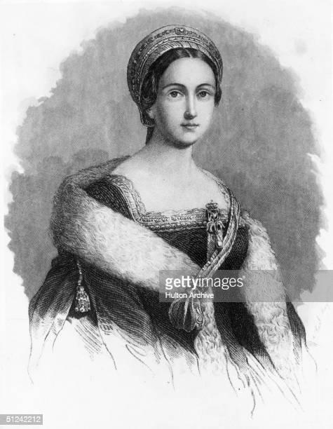 Circa 1533, English queen Anne Boleyn , the second wife of King Henry VIII.
