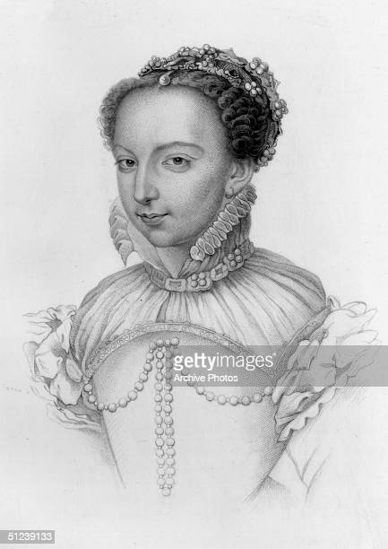 Circa 1540, Catherine de Medici . Daughter of Lorenzo de' Medici, duke of Urbino, married the duc d'Orleans became the queen of France when he...