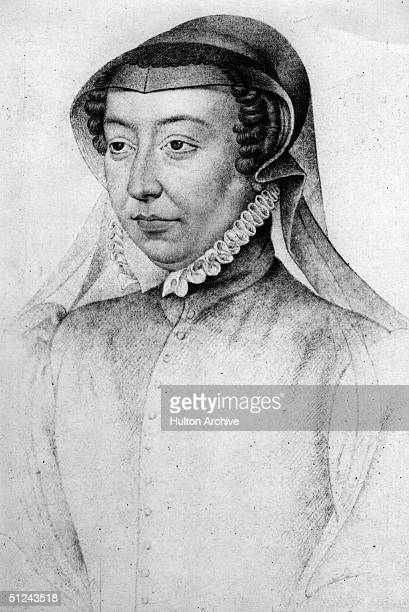 Circa 1550, Catherine de Medici, , the wife of King Henri II of France, who ascended the throne in 1547. She ruled as Queen regent after his death in...